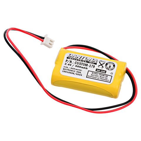 Emergency Lighting Battery CUSTOM-179 Replaces Interstate - NIC1394, Lithonia - 10010034