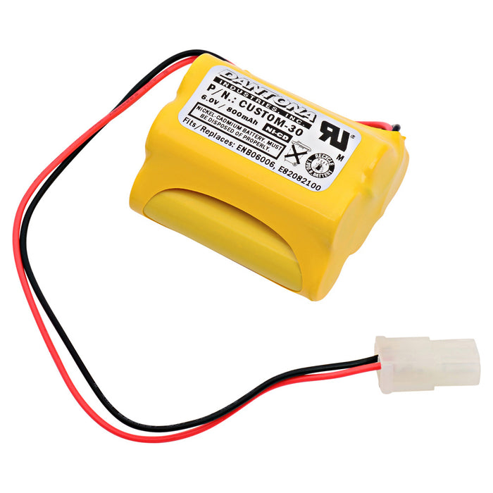 Emergency Lighting Battery CUSTOM-30 Replaces Interstate - NIC0099, Lithonia - ENB06006