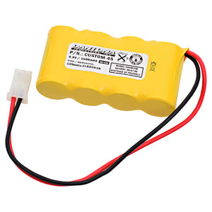 Image of Emergency Lighting Battery CUSTOM-45 Replaces Interstate - NIC0095, Lithonia - ELB0501N