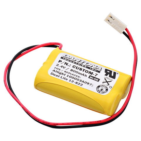Emergency Lighting Battery CUSTOM-7 Replaces At-Lite - 100003A097, Interstate - NIC0148