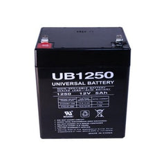 12V / 5Ah UB1250 Sealed Lead Acid Battery with F2 (.250in) Terminals - D5777