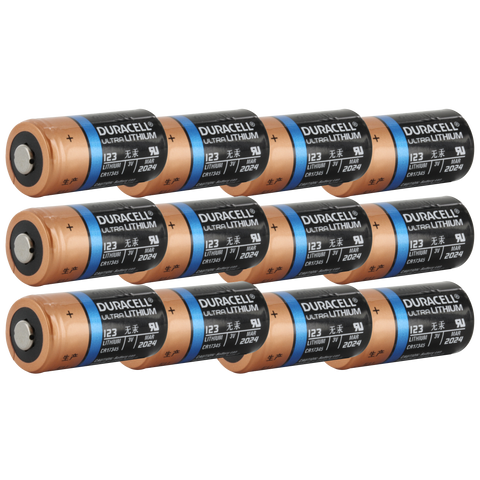 Duracell 12 Pack Ultra Lithium DL123 123 CR123A Photo Battery