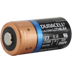 Duracell Ultra DL123A 3V Lithium Battery (AKA: CR123, CR123A, PL123, EL123, 123) 1-Pack