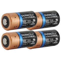 Duracell Ultra DL123A 3V Lithium Battery (AKA: CR123, CR123A, PL123, EL123, 123) 4-Pack