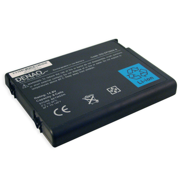 DENAQ 8-Cell 4400mAh Li-Ion Laptop Battery for HP Business Notebook nx9100, nx9105, nx9110, nx9600; Pavilion zd8000, zv5000, zv6000, zx5000; Presario R3000, R4000, X6000