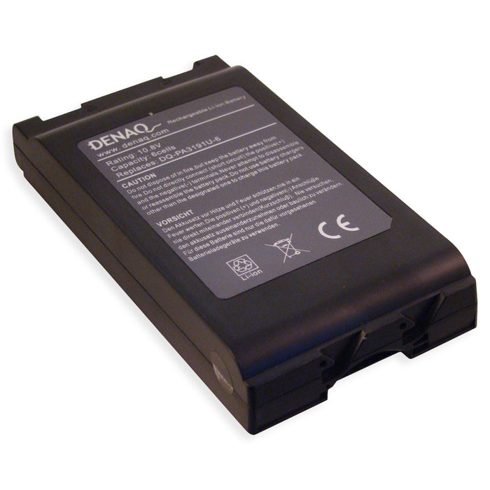 DENAQ 6-Cell 4700mAh Li-Ion Laptop Battery for TOSHIBA Portege M200, M205, M400, M405, M700, M750 Series and other