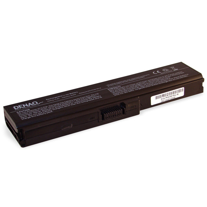 DENAQ 6-Cell 5200mAh Li-Ion Laptop Battery for TOSHIBA Dynabook, Portege, Satellite and Satellite Pro