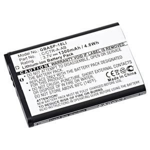 Image of Video Game Battery GBASP-18LI Replaces Nintendo - MIN-CTR-001