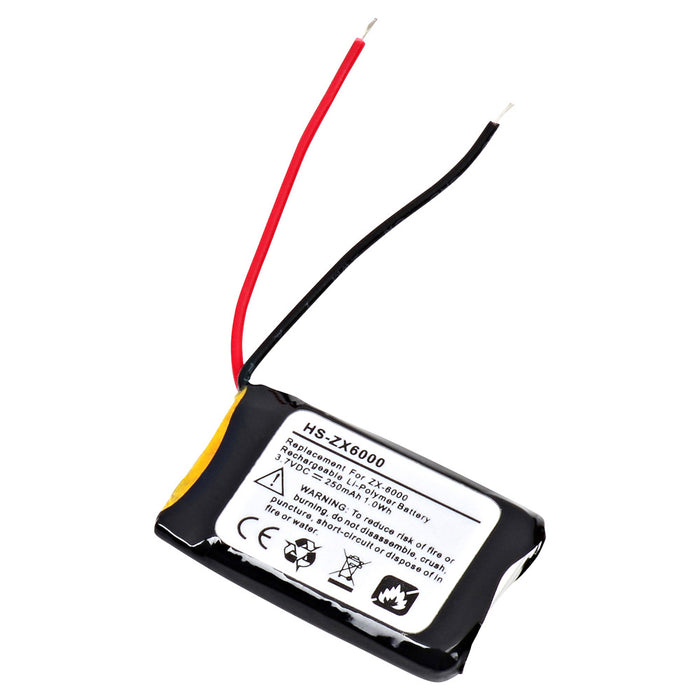 Replacement Battery for Microsoft LIFECHATZX6000 Headset - DA HS-ZX6000