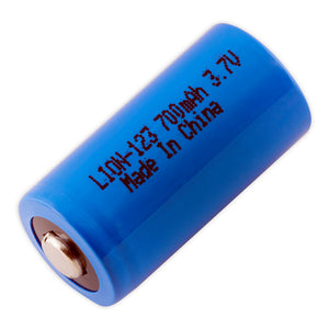 Image of LION-123 Battery 3.7VOLTS 700mAh, Lithium Ion Replacement For CR123
