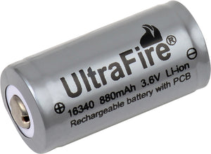 Image of Ultrafire 16340 Protected Li-Ion Rechargeable Battery
