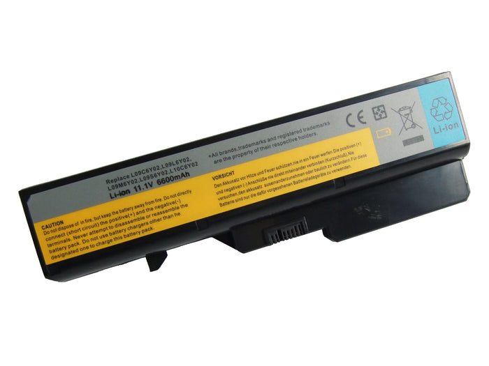 9 Cell 6600 mAh Extended Capacity Li-Ion Laptop Battery for Lenovo Laptops