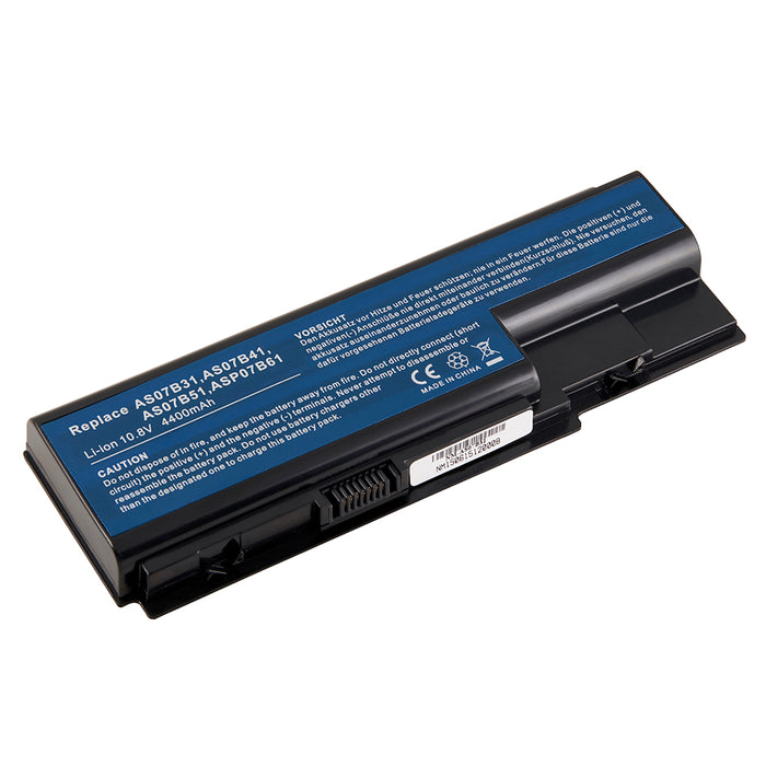 6 Cell 4400 mAh Li-Ion Laptop Battery for 227 Acer Aspire models 7 E-Machine models, 5 Gateway models, and 7 Packard Bell models