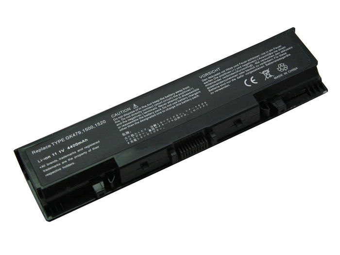 6 Cell 4400 mAh Li-Ion Laptop Battery for 16 Dell Inspiron models, and Dell V1500, V1700, Vostro 1500, and Vostro 1700