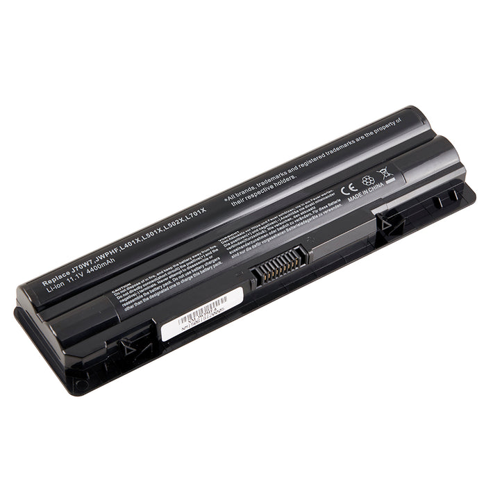 6 Cell 4400 mAh Li-Ion Laptop Battery for 12 Dell XPS Laptops including 14, 15, 17, L401X, L501X, L701X