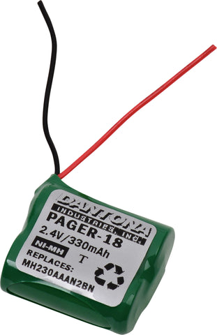 Pager Battery PAGER-18 Replaces Long Range Systems - MH230AAAN2BN