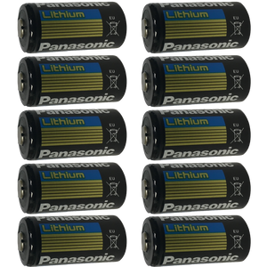 Panasonic CR123 CR123A 123 DL123 Lithium-Metal Battery, Camera Batteries: 10-Pack