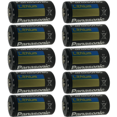 Panasonic CR123A Lithium Battery 10-Pack - CR-123