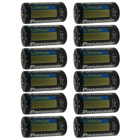 Panasonic CR123 CR123A 123 DL123 Lithium-Metal Battery, Camera Batteries: 12-Pack