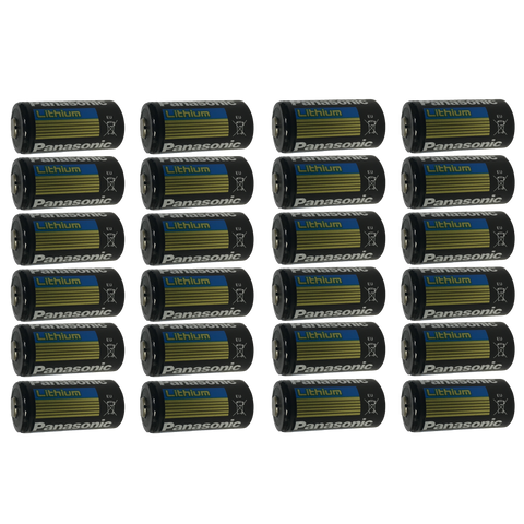 Panasonic CR123 CR123A 123 DL123 Lithium-Metal Battery, Camera Batteries: 24-Pack