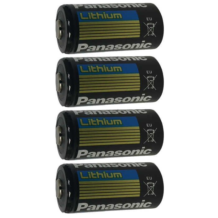 Panasonic CR123 CR123A 123 DL123 Lithium-Metal Battery, Camera Batteries: 4-Pack