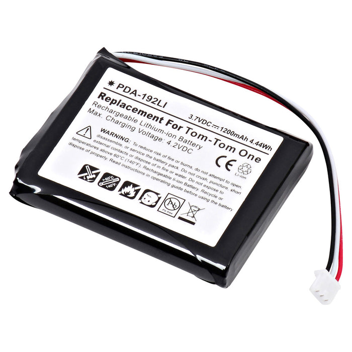 GPS Battery PDA-192LI Replaces TomTom - 4K00.100,Interstate - LIT0254