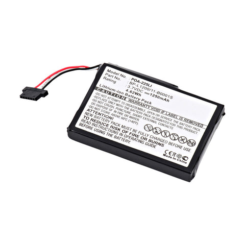 GPS Battery PDA-225LI Replaces Typhoon MyGuide - 541380530001