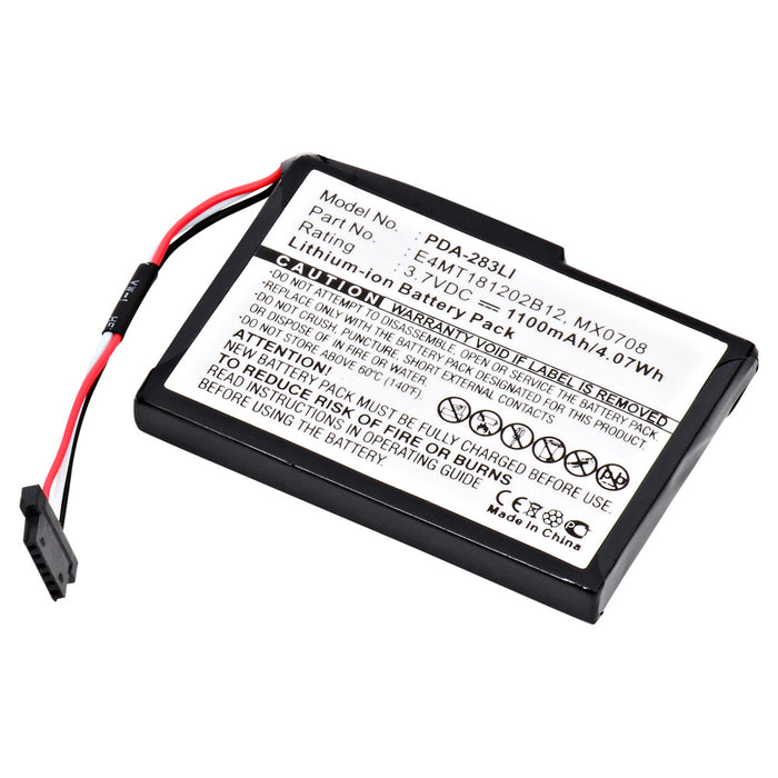 GPS Battery PDA-283LI Replaces Magellan - E4M118120B12