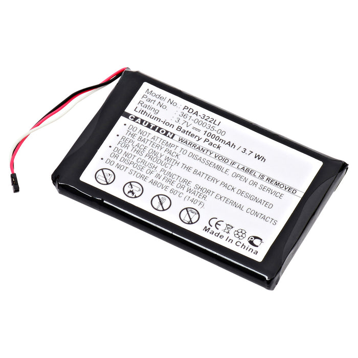 GPS Battery PDA-322LI Replaces Garmin - 361-00035-00