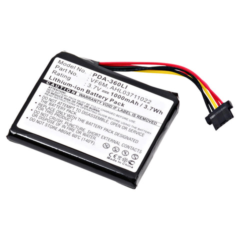 GPS Battery PDA-360LI Replaces TomTom - 4EH45