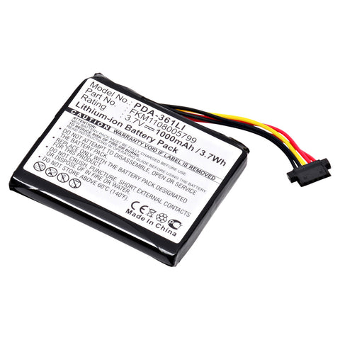 GPS Battery PDA-361LI Replaces TomTom - 1CT4.019.03