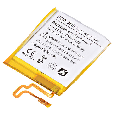 MP3 Player Battery PDA-388LI Replaces Apple - 616-0639