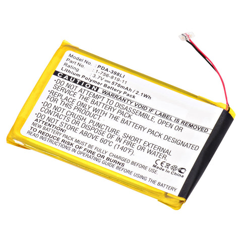 MP3 Player Battery PDA-398LI Replaces Sony - 1-756-819-11