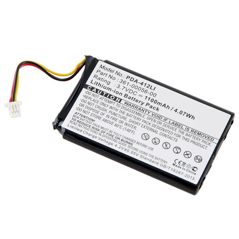 GPS Battery PDA-412LI Replaces Garmin - 361-00056-01
