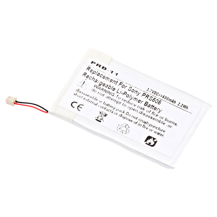 600 mAh Replacement Battery for Sony PRS505, PRS505/LC, PRS505/RC, PRS505/SC, PRS505RC, PRS505SC/JP