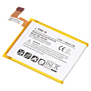 "Image of Replacement Battery for Amazon Kindle 4, Amazon Kindle 5, Amazon Kindle 6, and Amazon Kindle WI-FI 6"" E Ink Display"