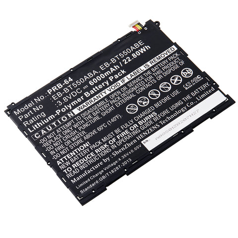 Portable Media Player Battery PRB-64 Replaces Samsung - EB-BT550ABA