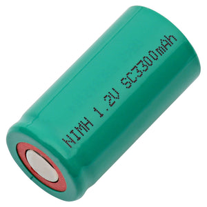 Image of Sub-C NiMH 1.2 VOLT 3300mAh Industrial Battery
