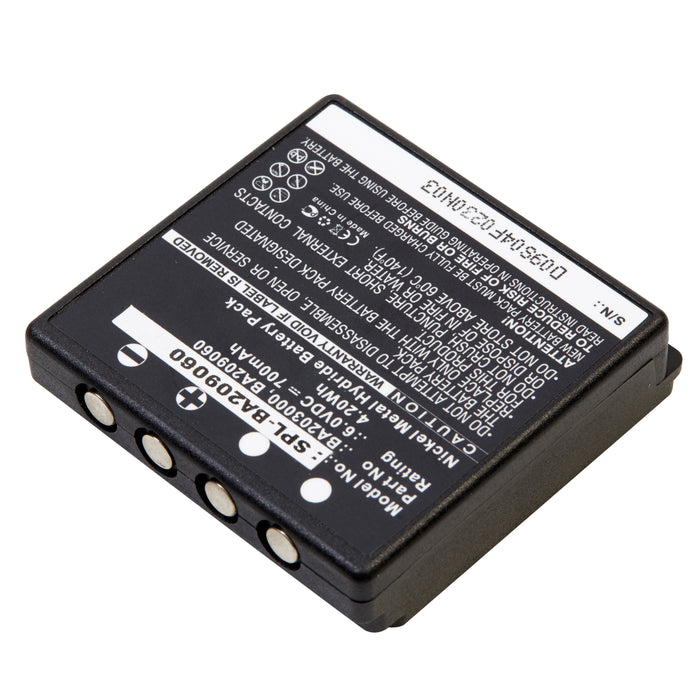 Scale-Industrial Battery SPL-BA209060 Replaces HBC - FBFUB09N, FUB 9NM 6V, FUB9NM,  Linus 4, Linus 6, Micron 4, Micron 6, Radiomatic Eco, Remote Control Crane Truck Dri, Spectrum 1, 2, A, B, others