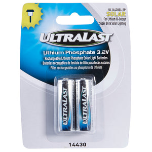 Image of Ultralast Solar Lighting Size 14430 Li-FePO Batteries 2 Pack - DAUL14430SL2P