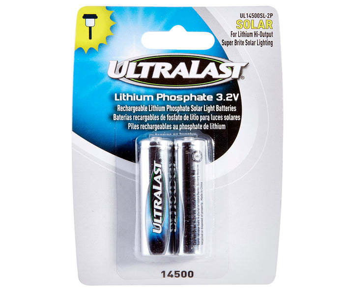 Ultralast Solar Lighting Size 14500 Li-FePO Batteries 2 Pack - DAUL14500SL2P