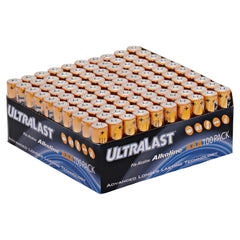 Household Battery ULA100AAAB Replaces Duracell - PC2400 100 Pack