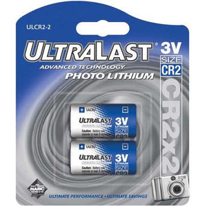 CR2 Lithium Photo Camera Battery, Baby Monitor Batteries, Replaces Levana Oma, Garmin BarkLimiter, Panasonic CR2 - 2-Pack