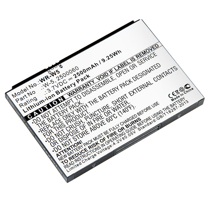 WR-W5 - Replacement Battery for AT&T Unite, Sprint AirCard, Netgear AirCard wireless router batteries