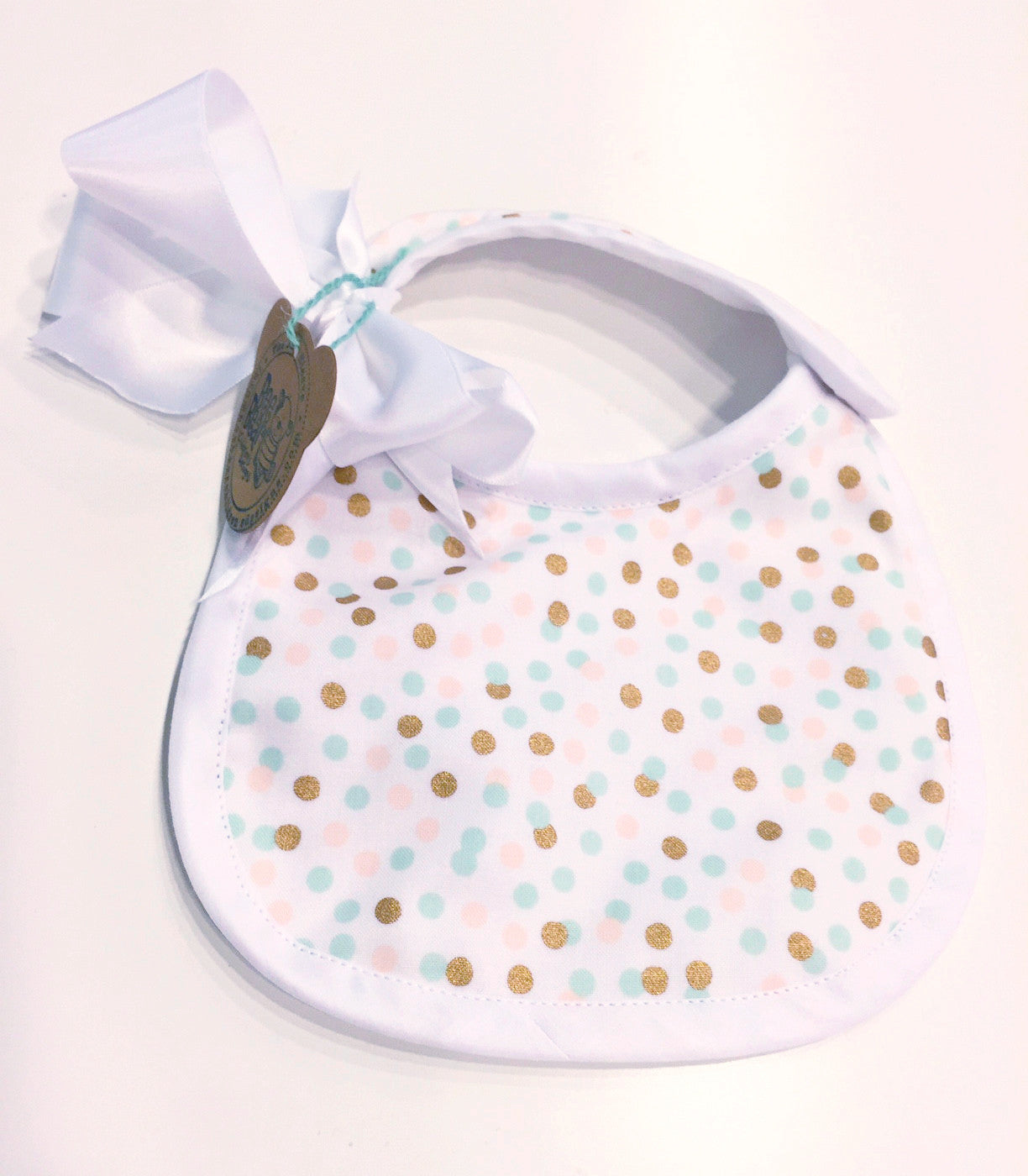 Baby Bib - Addie Print - Bee Bear Children's Designs - 1
