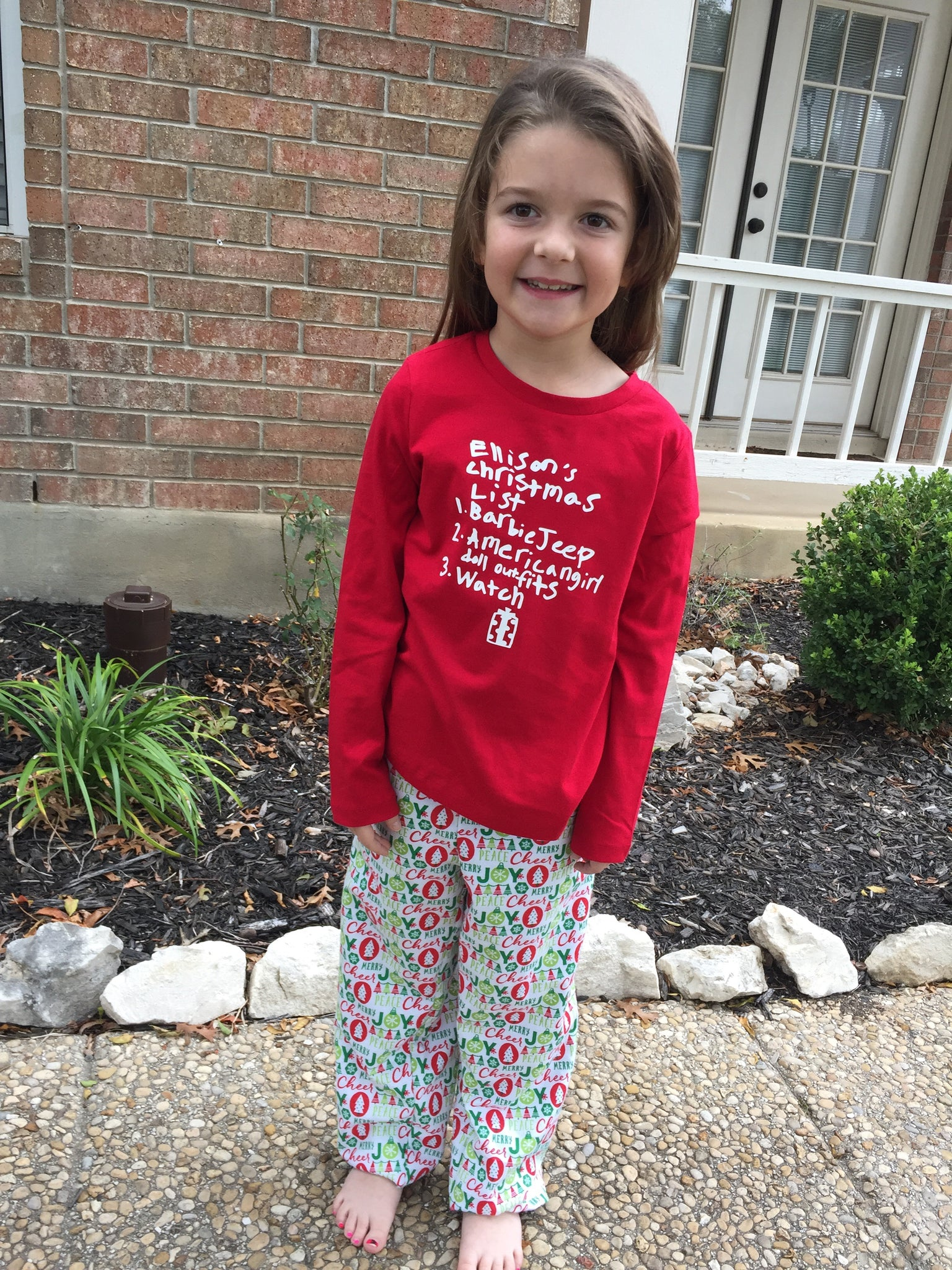 Girl's Christmas Wish Pajama's