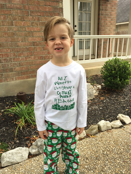 Boy's Christmas Wish Pajama's
