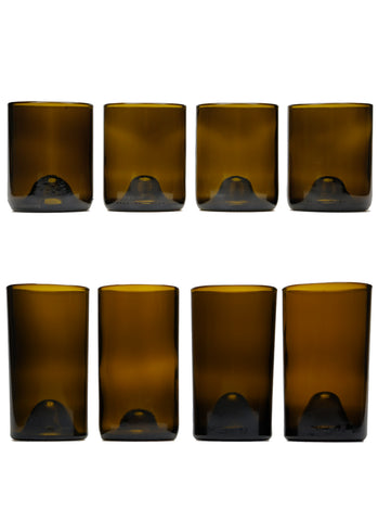 12 & 16oz 4 packs as a set: amber: with personalized engraving and wrapping options