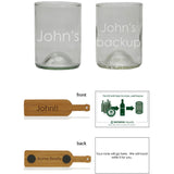 Bourbon 2 pack: custom etch each glass individually
