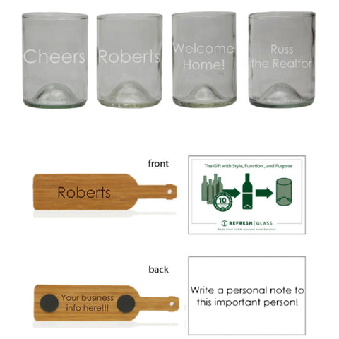 Bourbon 4 pack: custom etch each glass individually